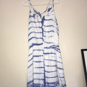 Tie die spaghetti strap dress